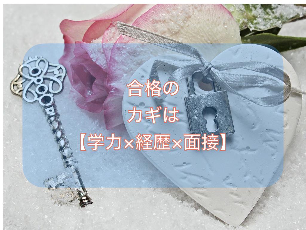 合格のカギは【学力×経歴×面接】
